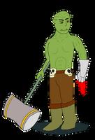 Orc Warrior Token by mattwandcow