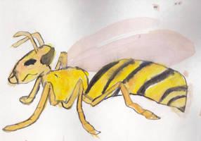 Watercolor Wasp by mattwandcow