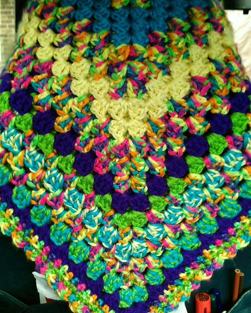 afghan of many colors by TraelynDenimore