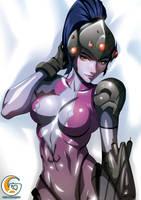 Dakimakura commission - Overwatch Widowmaker 1 by mitgard-knight