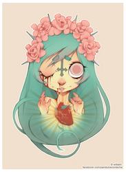 Ofelia's sacred heart. by william-adolphe