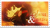 Miroku and Sango Stamp by ethie-chan