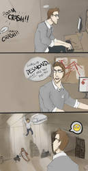 Shaun is NEVER impressed. by foxburro