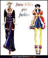 Evil Queen and SnowWhite by Sashiiko-Anti