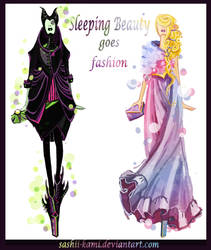 Maleficent and Aurora by Sashiiko-Anti