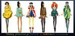 Disney princesses go fashion I by Sashiiko-Anti