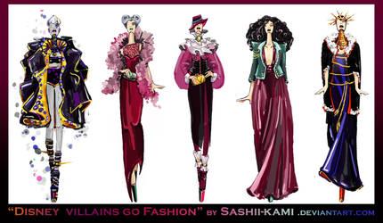 Disney villains go fashion I by Sashiiko-Anti