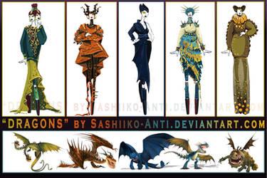 Dragons by Sashiiko-Anti