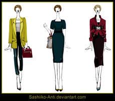 Business Lady. Exam sketches. by Sashiiko-Anti