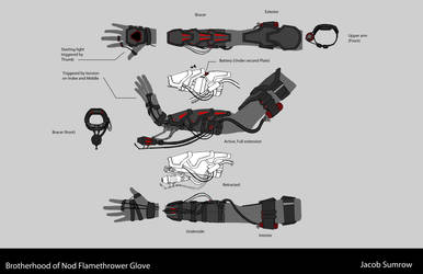 Brotherhood of Nod Inspired Flamethrower Glove by Scorpiu5
