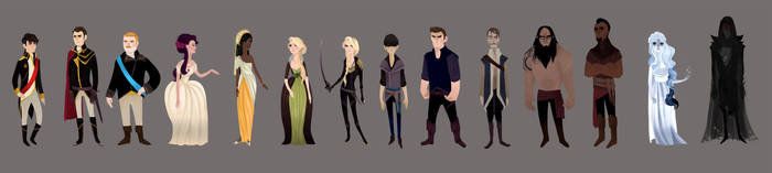 Throne of Glass Character Line Up by ennemme