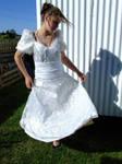 White Dress Stock 4 by fallen-again-stock