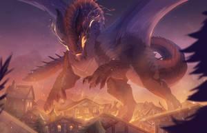 Dragon god by synderen