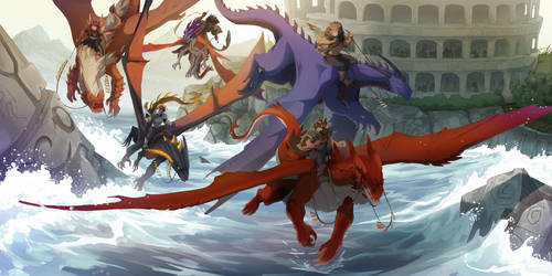 Collab: DRAGON RACE II by synderen
