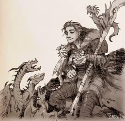 Dragon Mom by synderen