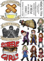 Doctor Who Stickers by IlMostroDeiDesideri