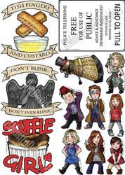 Doctor Who Stickers by IlMostroDeiDesideri