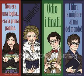 Doctor Who Bookmarks by IlMostroDeiDesideri