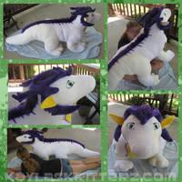 Fersir 5 foot dragon plushie by BlueWolfCheetah