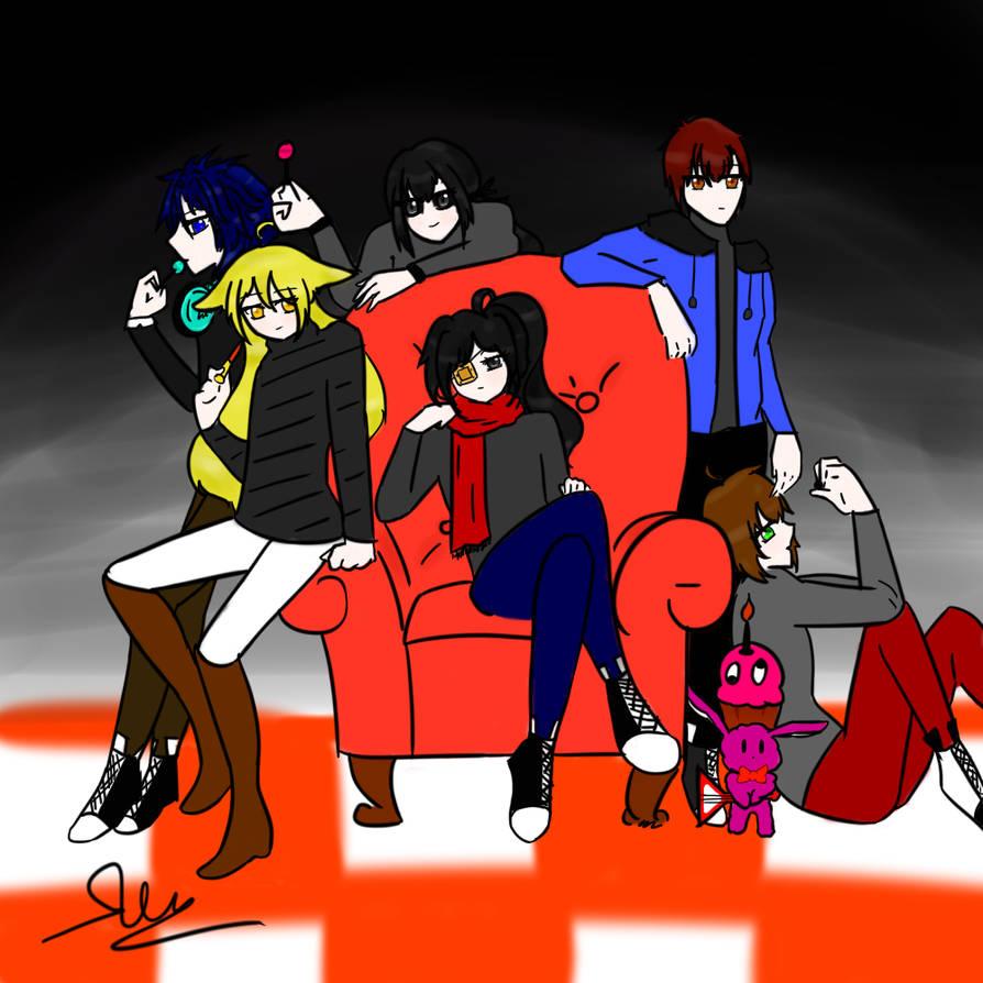 Team [FNAF] by Mekayumi