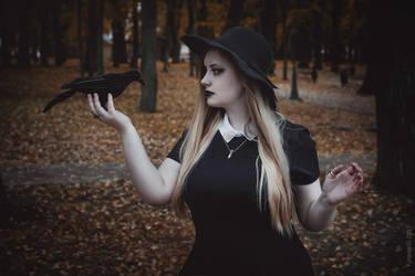 Witch and raven by KirikoSan