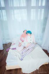 Super Sonico and Hatsune Miku by KirikoSan