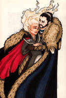 Together : Jon + Daenerys by CMBaggs