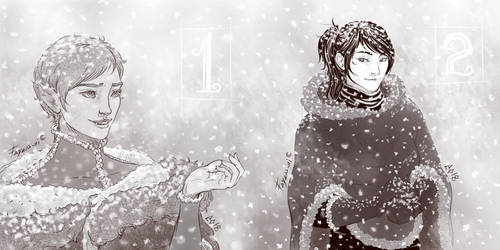 1st and 2nd December: First snow by Fayen-ri