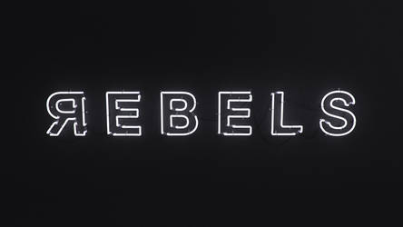 REBELS - 3D Neon sign by Eliasklingen