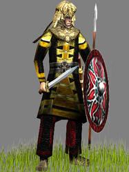 Daylamite warrior by Gaiiten