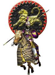 Nodsiragan Asavaran Lancer (Sassanian Empire) by Gaiiten