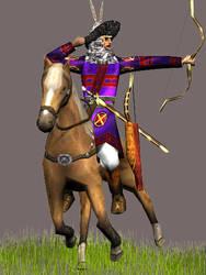 Hephtalites Tribal Horsearcher by Gaiiten