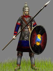 Burgundii Noble Spearman by Gaiiten