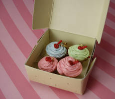 French Bakery Cupcake Charms by FatallyFeminine