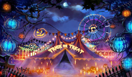 Halloween Carnival by AkubakaArts