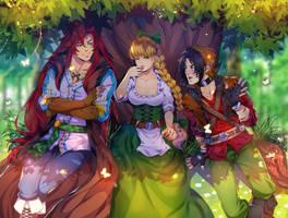 COMM: Leo, Sifearia and Kestrel by AkubakaArts
