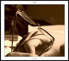 Hand and glasses by sirlatrom