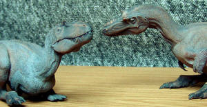 Gorgosaurus libratus juveniles by Gorgosaurus