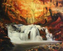 Autumn Waterfall by SkiAr7sy