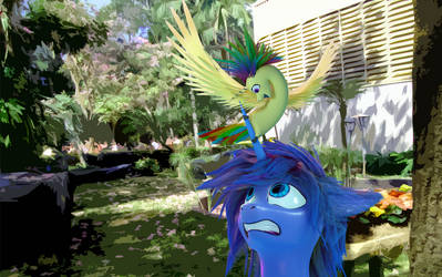 3D Ver. of I'm A Bird! Look at me! by Rublegun by Krakhat