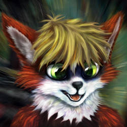 Red Raccoon by Krakhat