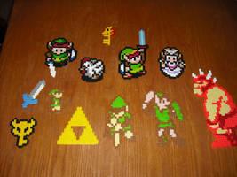Perler Bead Art - Zelda2 by Miuki-Salvarus