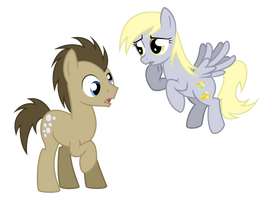 Doctor Hooves And Derpy Whooves by Plumpig