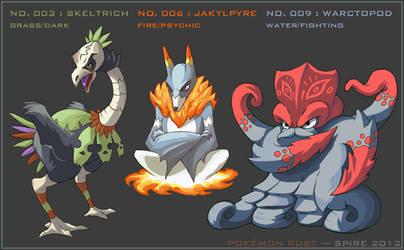 Pokemon Rust: Starter Final Evolutions by Spire-III