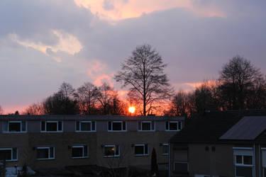 Sunset from my room by Stilleschrei