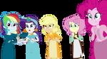 The mane five as Disney Princesses by tdimlpfan234