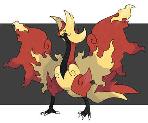 Fakemon Bird_Flame by fer-gon