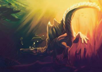 Personnal Art - Spinosaurus by Nanasschevelu