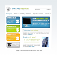Web Hosting Template for 4T by apokalypseAT