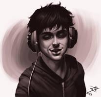 Headphone. by rockedgirl
